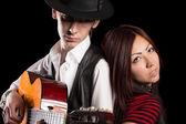 Jovem casal musical — Foto Stock