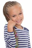 Portrait of a happy young girl  — Stock Photo