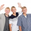 Cheerful group of young boys — Stock Photo #56437115
