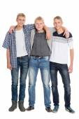 Slender young men eighteen years — Stock Photo