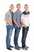 Slender young men blond eighteen years  — Stock Photo