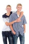 Cheerful twin brothers  — Foto Stock