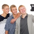 Friends make self on old camera instant print — Стоковое фото #56447899