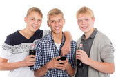 Smiling young guys  — Foto Stock