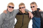 Three best friends in sunglasses — Foto Stock