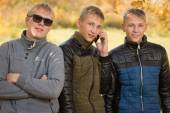 Portrait of a group of young men — Foto Stock