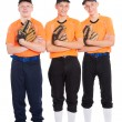 Young men in the shape of a baseball game — Stockfoto #58172331