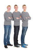 Handsome boys in a striped shirts  — Foto Stock