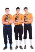 Young men in the shape of a baseball game — Foto Stock