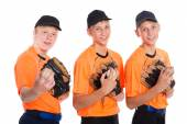 Guys in the shape of a baseball game — Foto Stock