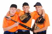 Young guys in shape for the game of baseball — Стоковое фото