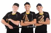 Young cheerful baseball players — Foto Stock