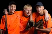 Cheerful young baseball players  — Foto Stock