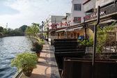 Argine del fiume a Melaka, Malaysia — Foto Stock