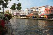 Embankment of the river in Malacca, Malaysia — Stock Photo