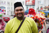 Portrait of an flamboyant man, Malacca — Stock Photo