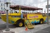 Duck tours this tourist attraction in Malacca — Stock Photo
