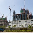 Постер, плакат: Construction of the Marina One Project in Singapore