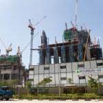 Постер, плакат: Construction of the Marina One Project in Singapore
