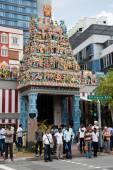 Sri Veerama Kaliamman Temple in Little India, Singapore — Stock Photo