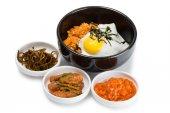 Smažená rýže s kimchi — Stock fotografie