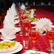Festively served banquet table with glasses — Stock Photo #75073823