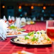 Served banquet table — Stock Photo #75073831