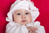 Cute baby girl with a hat — Stok fotoğraf