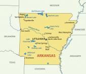 Arkansas - vector map — Stockvektor