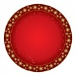 Round red background for christmas - vector — Stock Vector #60298881