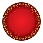 Round red background for christmas - vector — Stock Vector