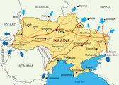 Ukrainian gas transportation system - vector — Stockvektor