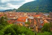 Historic city center in Brasov (Kronstadt). Transylvania, Romani — Stock Photo