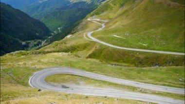 Transfagarasan mountain road, Romanian Carpathians. Timelapse — Stock Video