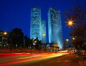 Night traffic jam. Tel Aviv, Israel — Foto Stock