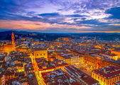 Night view of Florence, Italy. HDR — Foto Stock