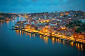 Porto after sunset, Portugal — Stock Photo
