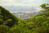 Skyscrapers and Yangtze River. Chongqing , China — Stock Photo