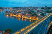 Citylights of Porto, Portugal — Stock Photo
