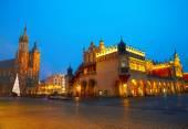 Krakow Pazar Meydanı, Polonya — Stok fotoğraf