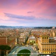 Wonderful view of Rome at sunset time — Stock Photo #67218047