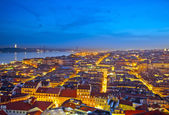 Cityscape of Lisbon in Portugal after sunset — Stock Photo