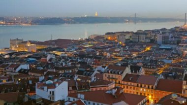 Panorama de lisboa, portugal — Vídeo de Stock