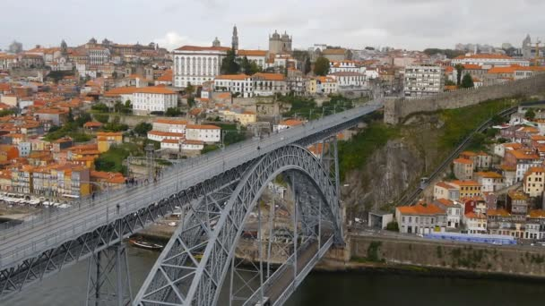 Historic city of Porto, Portugal — Vídeo de stock