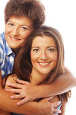Portrait of daughter embracing her mother — Stock Photo