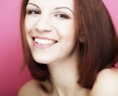 Beautiful young smiling woman with clean skin — Stock Photo