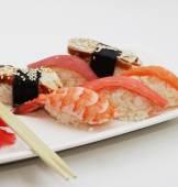 Sushi. good japanese food. — Stock Photo