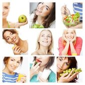 Dieting collage — Stock Photo