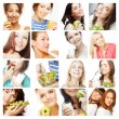 Dieting collage — Stock Photo #62515479