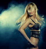 Lady in the night club — Stock Photo